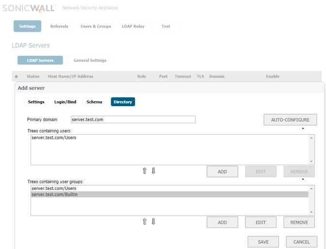 Bloqueio de acesso à internet no firewall Sonicwall
